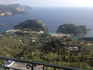 Looking down on Paleokastritsa