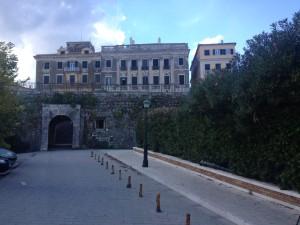 The exit from Faliraki through the city walls